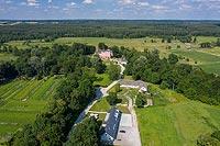 Zamek w Kurozwękach - zdjęcie lotnicze, fot. ZeroJeden, VII 2020