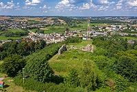 Zamek w Kurzętniku - Zdjęcie lotnicze, fot. ZeroJeden, VII 2020