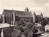 Zamek w Kwidzynie - Katedra i zamek na widokówce z 1935 roku