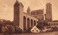 Zamek w Kwidzynie - Zamek na pocztówce z 1910 roku