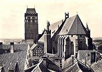 Zamek w Kwidzynie - Zamek na widokówce z 1935 roku