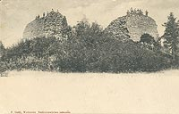 Lanckorona - Zamek na pocztówce z 1902 roku