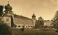 Zamek w Łańcucie - Zamek w Łańcucie na pocztówce z 1931 roku