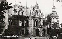 Laskowice - Pałac w Jelczu-Laskowicach na pocztówce z okresu międzywojennego
