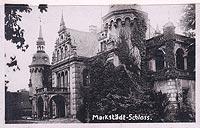 Zamek w Jelczu-Laskowicach - Pałac w Jelczu-Laskowicach na pocztówce z okresu międzywojennego