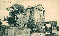 Zamek w Łęczycy - Zamek w Łęczycy na pocztówce z okresu międzywojennego