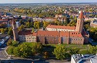 Zamek w Legnicy - Zdjęcie lotnicze, fot. ZeroJeden, X 2019