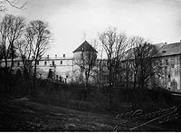 Lesko - Zamek w Lesku na zdjęciu z lat 1925-39