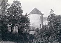 Zamek w Lesku - Zamek w Lesku na zdjęciu Albina Friedricha z lat 1892-97
