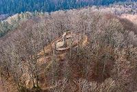 Zamek Homole w Ludowem - Zdjęcie z lotu ptaka, fot. ZeroJeden, XII 2020