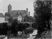 Zamek w Lidzbarku Warmińskim - Zamek na zdjęciu z 1919 roku