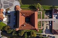 Zamek w Lidzbarku Warmińskim - Zdjęcie lotnicze, fot. ZeroJeden, IX 2021
