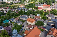 Zamek w Lidzbarku Welskim - Zdjęcie lotnicze, fot. ZeroJeden, VII 2020