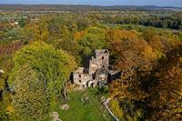 Zamek w Lipie Górnej - Zdjęcie lotnicze, fot. ZeroJeden, X 2019