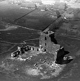 Zamek w Liwie - Zamek w Liwie na zdjęciu lotniczym z okresu 1939-1942