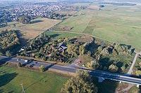 Zamek w Łowiczu - Zdjęcie lotnicze, fot. ZeroJeden, X 2018