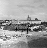Zamek w Lublinie - Zamek w Lublinie na fotografii A.Gerspacha z lat 1939-45