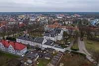Zamek w Lublińcu - Zdjęcie lotnicze, fot. ZeroJeden, IV 2021