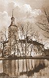 Zamek w Lubsku - Zamek w Lubsku na pocztówce z 1932 roku