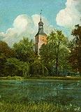Lubsko - Wieża zamkowa na widokówce z 1907 roku