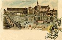 Zamek w Malborku - Widok zamku z lat dwudziestych XX wieku