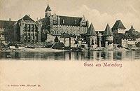 Zamek w Malborku - Widok zamku w 1898 roku