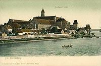 Zamek w Malborku - Malbork na pocztówce z 1905 roku