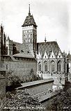 Zamek w Malborku - Zamek Górny w Malborku na zdjęciu z lat 30. XX wieku
