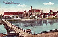 Zamek w Malborku - Zamek malborski w roku 1917