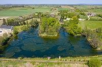 Zamek w Maleszowej - Widok z lotu ptaka, fot. ZeroJeden, V 2020
