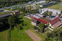Dwór w Marklowicach - Zdjęcie lotnicze, fot. ZeroJeden, IX 2019