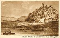 Zamek w Melsztynie - Zamek na pocztówce z 1931 roku