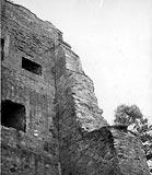 Zamek w Melsztynie - Ruiny zamku w Melsztynie na zdjęciu z 1942 roku