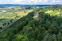 Zamek w Melsztynie - zdjęcie lotnicze, fot. ZeroJeden, VII 2020