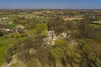 Zamek w Międzygórzu - Zdjęcie lotnicze, fot. ZeroJeden, IV 2021