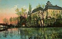 Międzylesie - Zamek w Międzylesiu na widokówce z lat 1910-1920