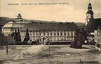 Zamek w Międzylesiu - Zamek w Międzylesiu na widokówce z lat 1910-1915
