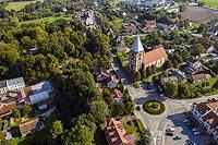 Zamek w Miłakowie - Zdjęcie lotnicze, fot. ZeroJeden, IX 2021