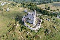 Mirów - Widok zamku z lotu ptaka, fot. ZeroJeden VIII 2018