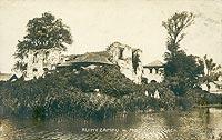 Dwór w Modliszewicach - Zamek w Modliszewicach na pocztówce z okresu międzywojennego