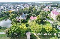Dwór w Modliszewicach - Widok zamku z lotu ptaka, fot. ZeroJeden VIII 2018