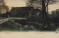 Zamek w Namysłowie - Zamek w Namysłowie na pocztówce z lat 20. XX wieku