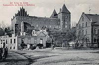 Zamek w Nidzicy - Zdjęcie z pocztówki z okresu międzywojennego