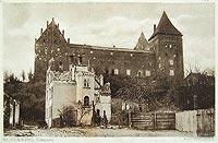 Zamek w Nidzicy - Zamek na widokówce z okresu międzywojennego