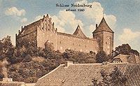 Zamek w Nidzicy - Zamek w Nidzicy przed 1914 rokiem