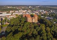 Zamek w Nidzicy - Zdjęcie lotnicze, fot. ZeroJeden, IX 2021