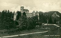 Zamek w Niedzicy - Zamek na pocztówce z 1927 roku