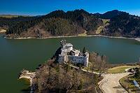 Zamek w Niedzicy - Zdjęcie lotnicze, fot. ZeroJeden, IV 2021