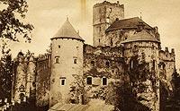 Zamek w Niedzicy - Zamek w Niedzicy na zdjęciu Władysława Hawlina z 1929 roku