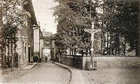 Zamek w Niemczy - Zamek w Niemczy na widokówce z lat 1925-1935